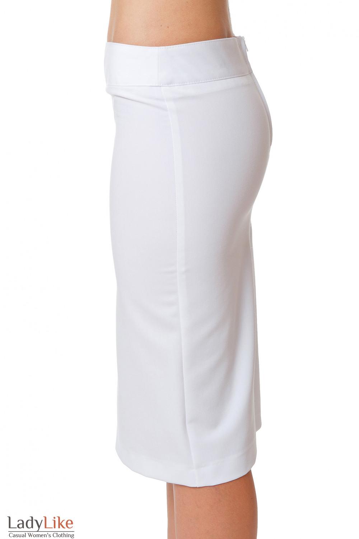 Купить белую зауженную юбку Деловая женская одежда