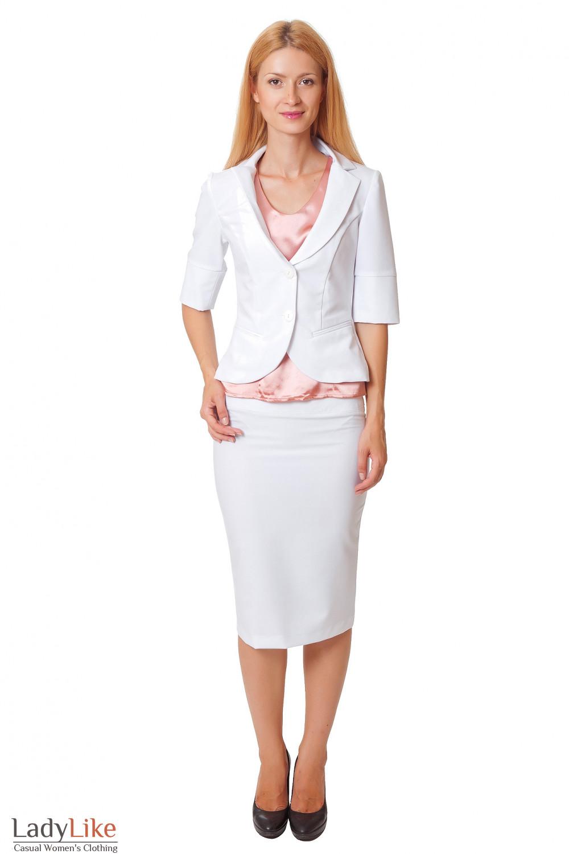 Купить белую юбку-карандаш Деловая женская одежда