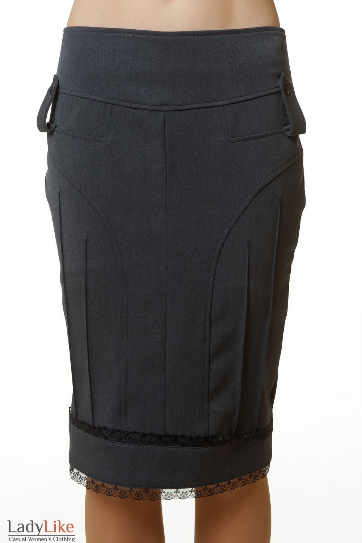 Купить юбку-карандаш серую Деловая женская одежда