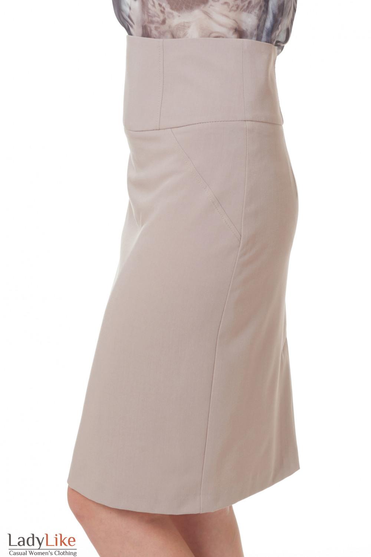 Зауженная бежевая юбка Деловая женская одежда