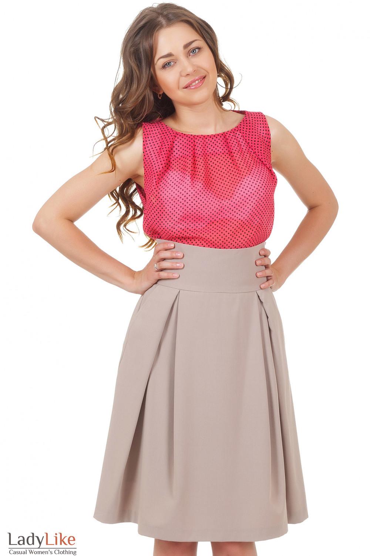 Купить юбку со складками Деловая женская одежда