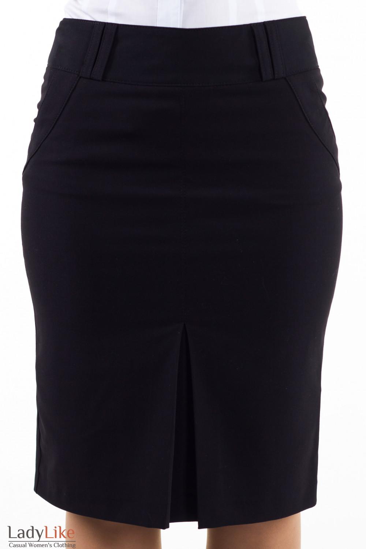 Фото Юбка черная Деловая женская одежда
