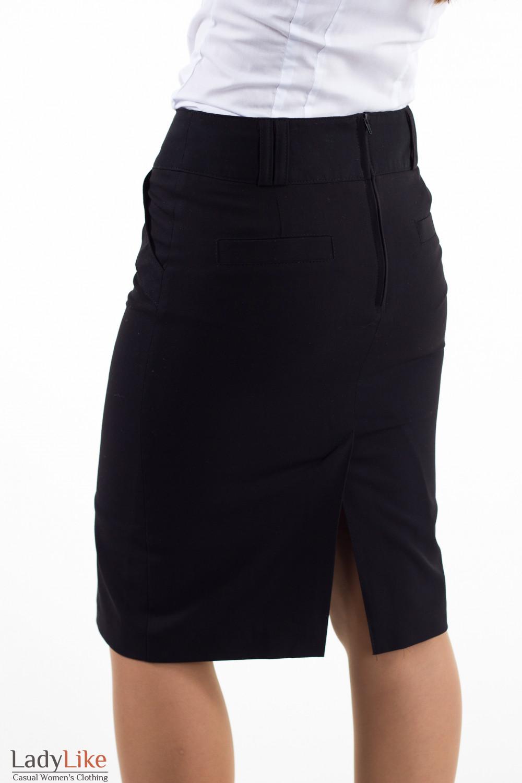 Фото Юбка с бантовой складкой Деловая женская одежда