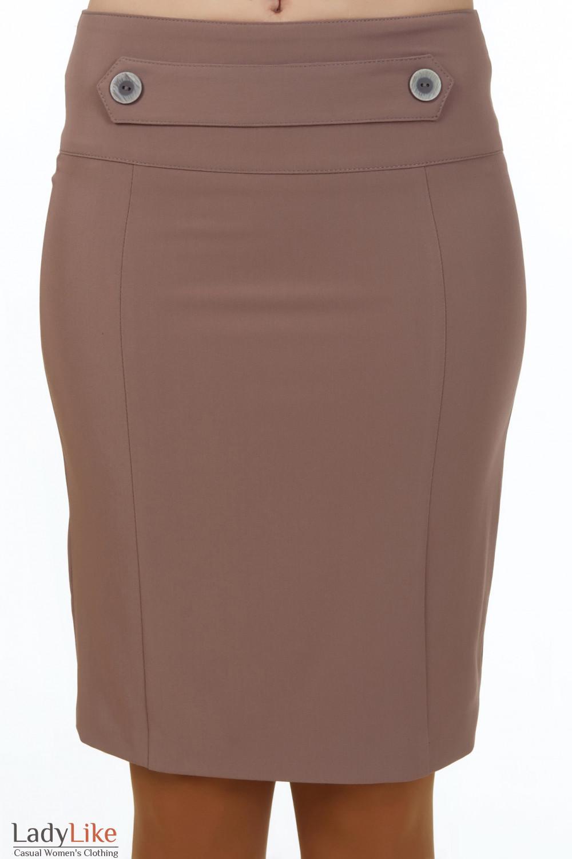 Купить юбку кофейную классичекую Деловая женская одежда