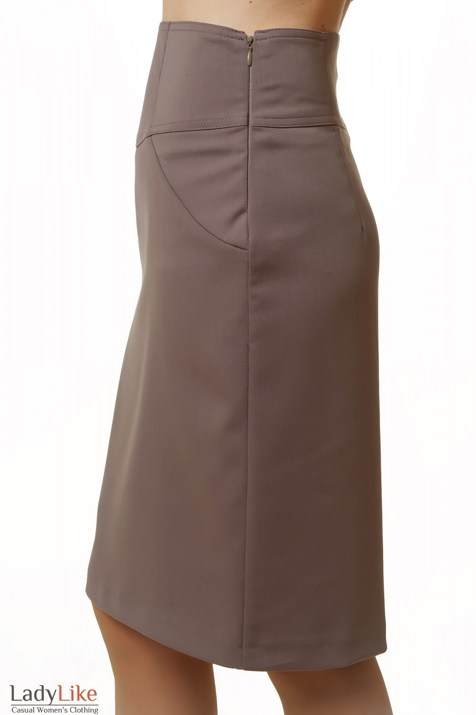 Юбка с високой талией Деловая женская одежда