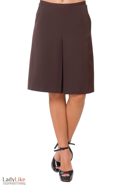 Купить теплую коричневую юбку Деловая женская одежда
