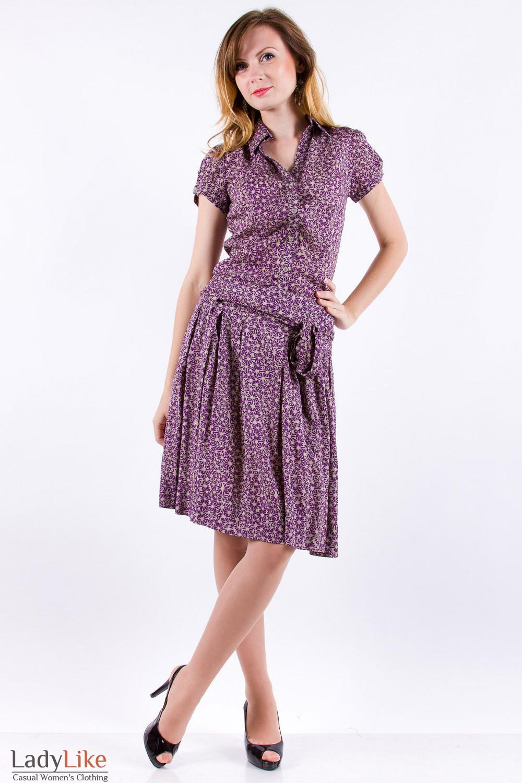 Фото Костюм из хлопка Деловая женская одежда
