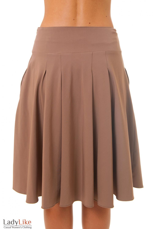 Юбка коричневая вид сзади Деловая женская одежда