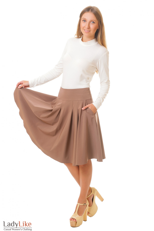 Купить юбку с карманами и складками Деловая женская одежда