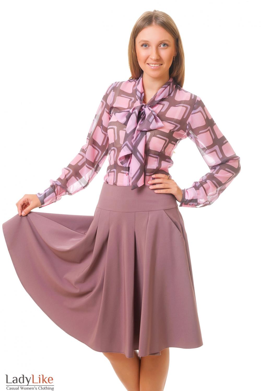 Купить юбку-солнцеклеш Деловая женская одежда
