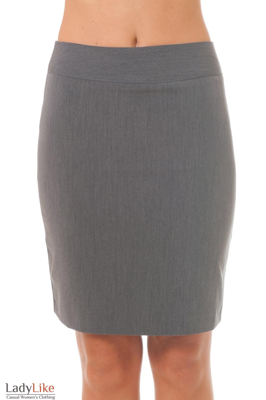 Купить серую короткую юбку Деловая женская одежда