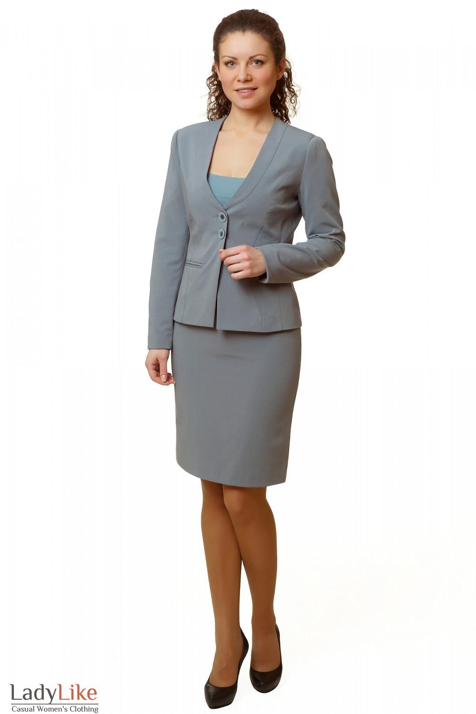 Купить юбку серую Деловая женская одежда