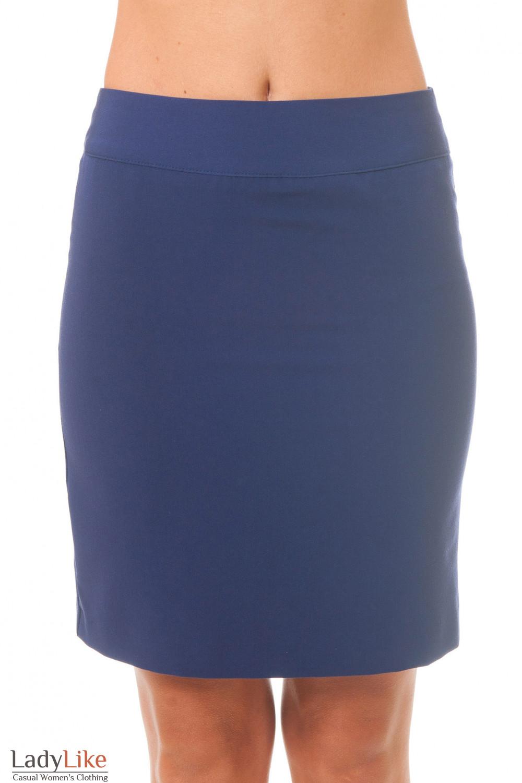 Купить синюю короткую юбку Деловая женская одежда