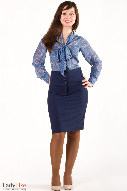 блузка с завышенной талией