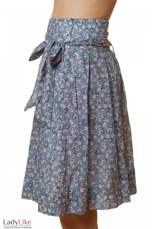 Купить синюю летнюю юбку Деловая женская одежда