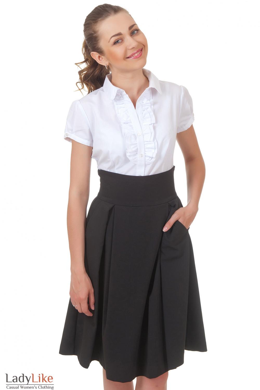 Купить черную юбку с карманами Деловая женская одежда