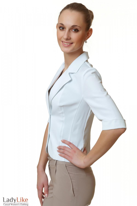 Купить жакет белый летний Деловая женская одежда