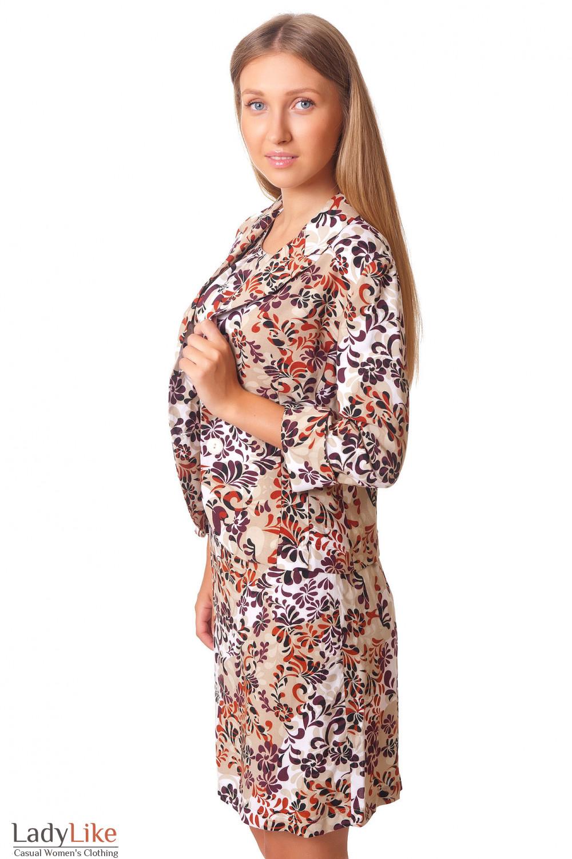 Купить летний жакет с коротким рукавом Деловая женская одежда