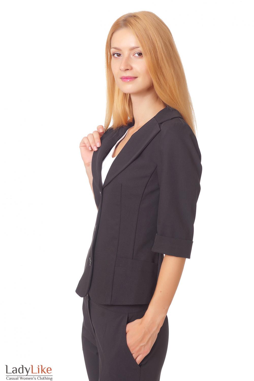 Купить черный жакет без подкладки Деловая женская одежда