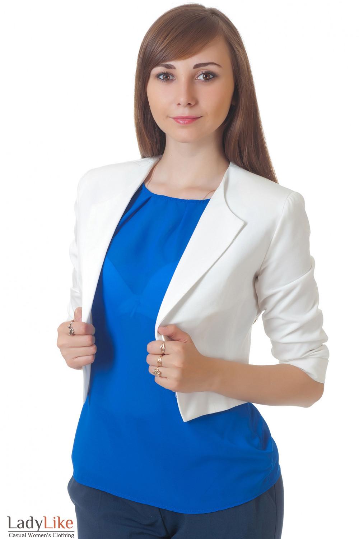 Купить белый жакет Деловая женская одежда