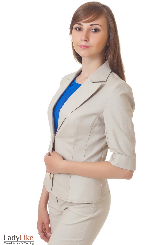 Купить жакет бежевый Деловая женская одежда