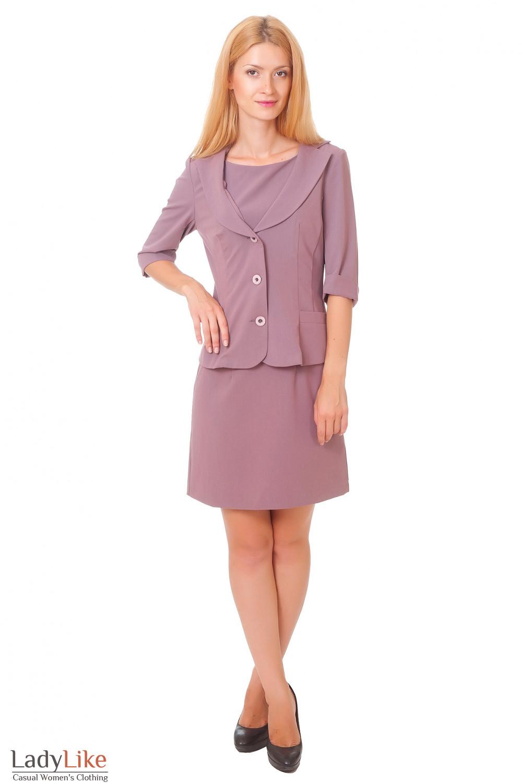Купить жакет с тричетвертным рукавом Деловая женская одежда