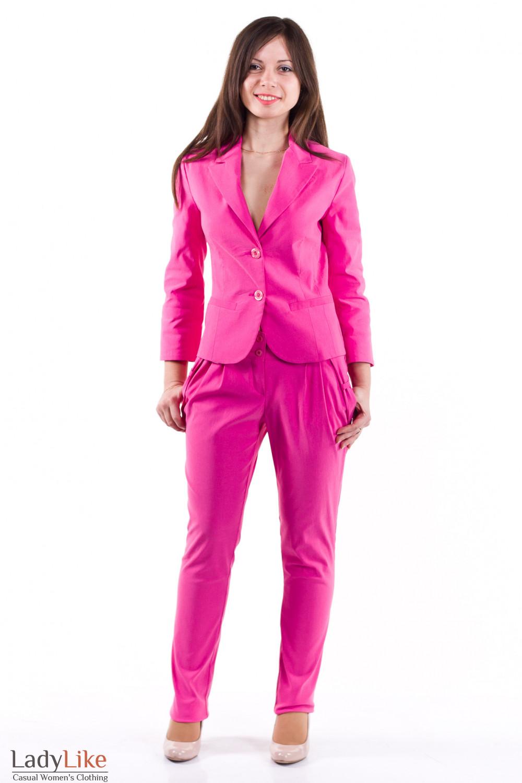 Фото Жакет розовый с рукавом в три четверти Деловая женская одежда
