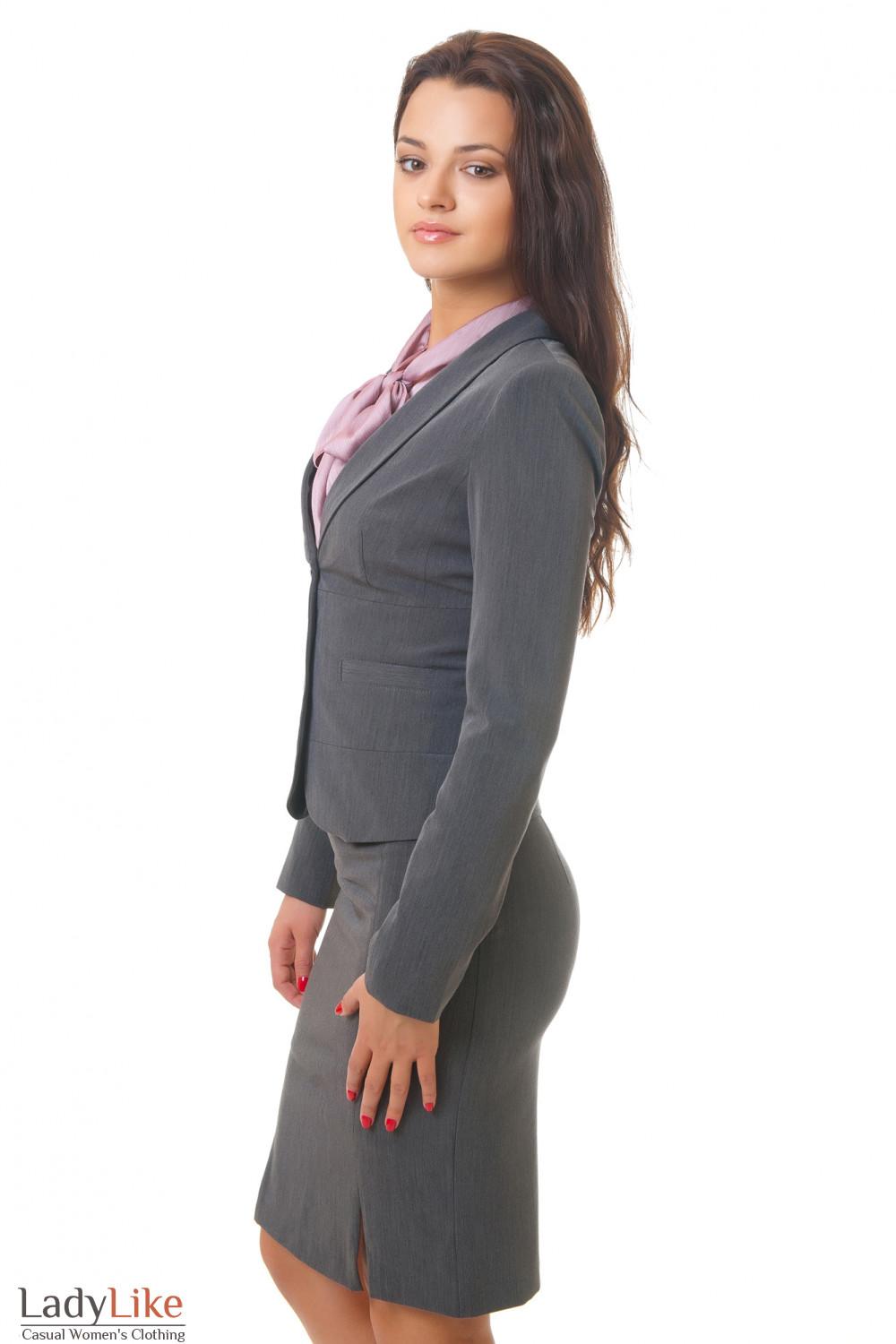 Купить серый жакет Деловая женская одежда