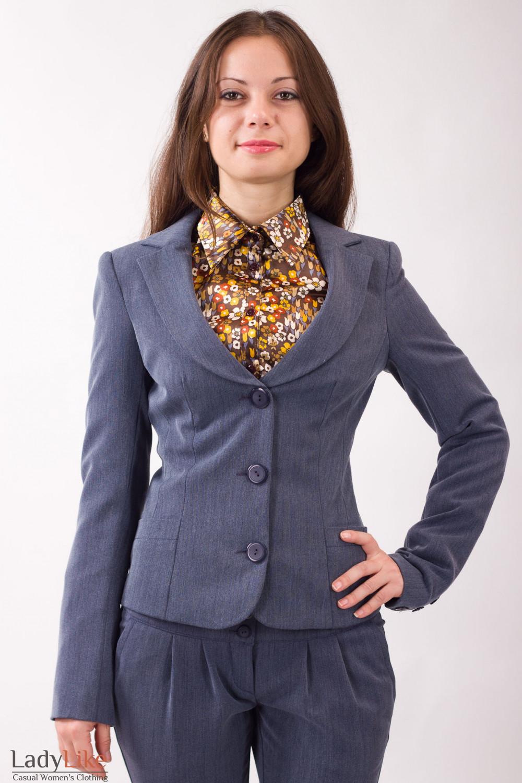 Фото Теплый жакет Деловая женская одежда