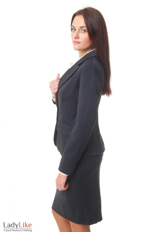 Купить темно-серый жакет Деловая женская одежда