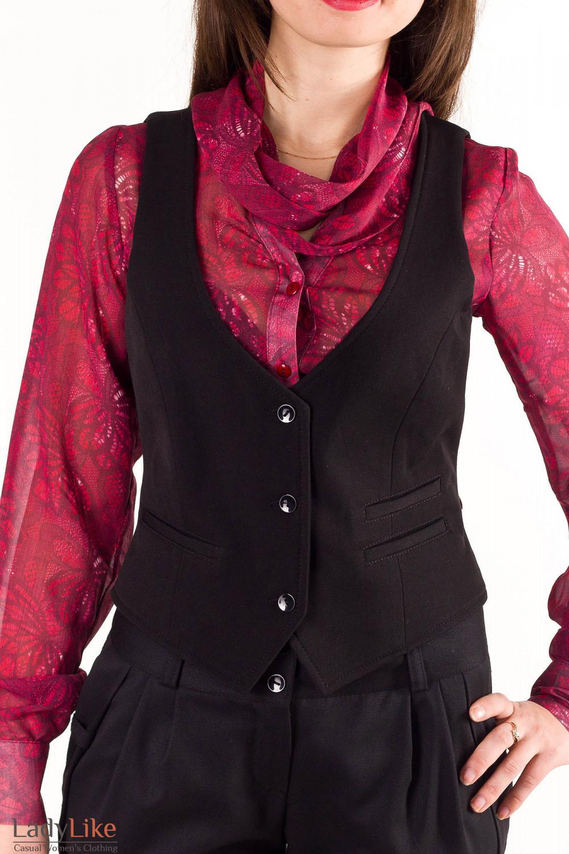 Купить жилетку черную Деловая женская одежда