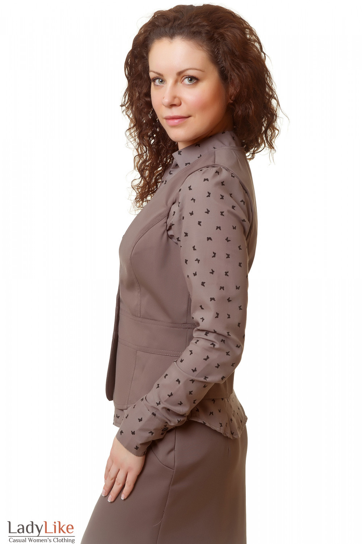 Купить коричневую жилетку Деловая женская одежда