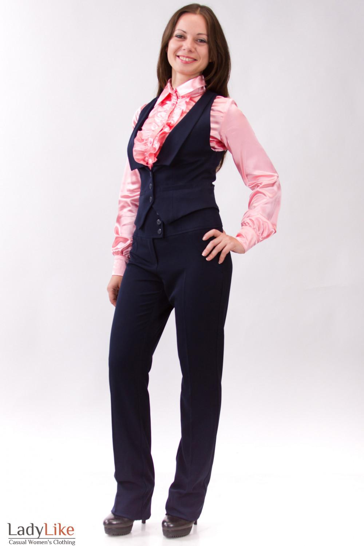 Фото Синий костюм Деловая женская одежда