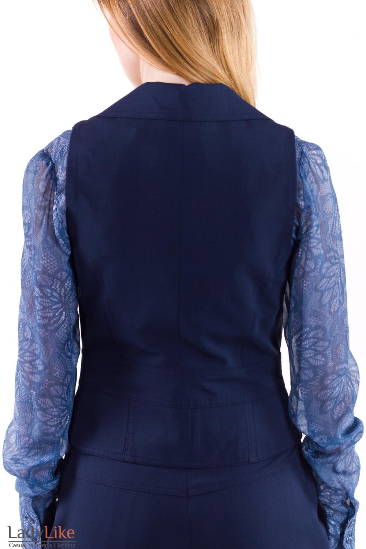 Фото Жилет синий Деловая женская одежда