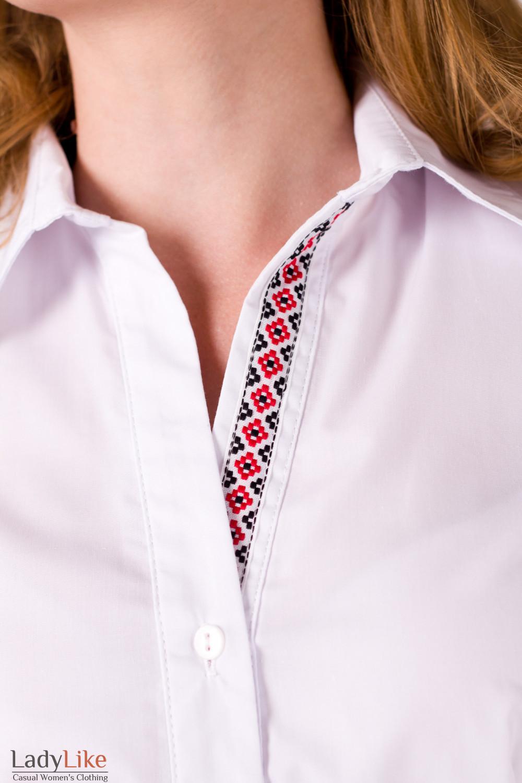 Фото Блузка с вышивкой Деловая женская одежда