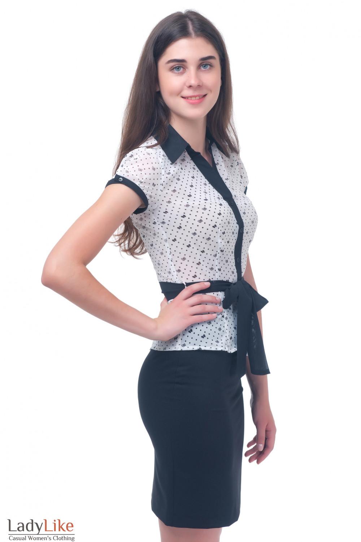 Купить летнюю шифоновую блузку Деловая женская одежда