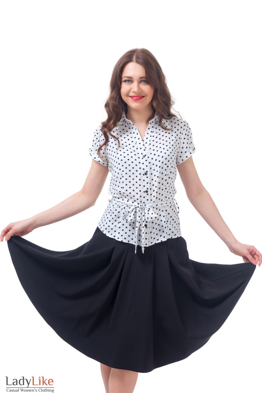 Купить блузку в черный горох Деловая женская одежда