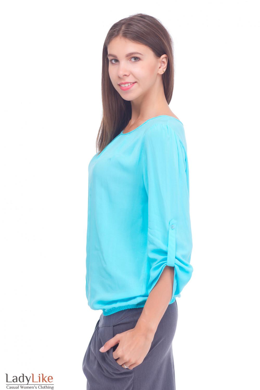 Купить блузку на резинке Деловая женская одежда