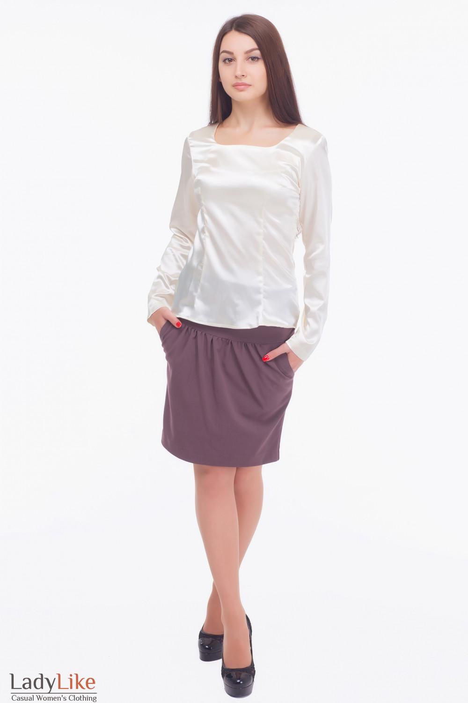 Купить молочную деловую блузку Деловая женская одежда
