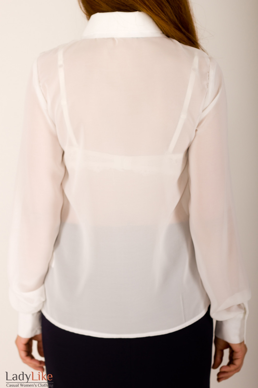 Фото Блузка белая Деловая женская одежда