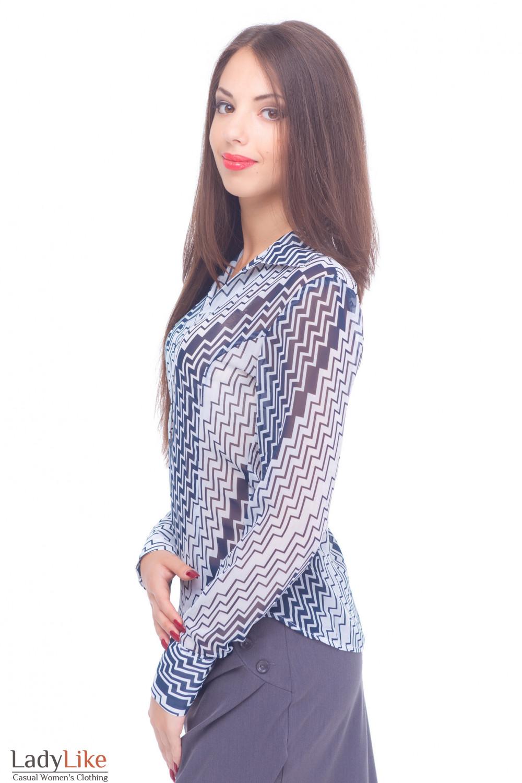 Купить шифоновую деловую блузку Деловая женская одежда
