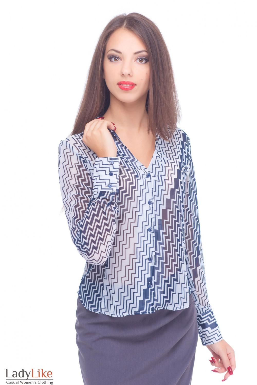 Купить блузку с длинным рукавом Деловая женская одежда