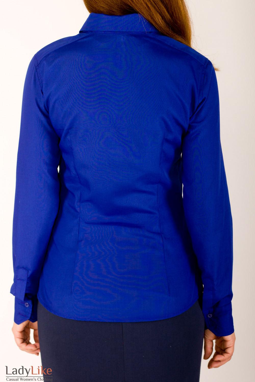 Фото Рубашка синяя Деловая женская одежда