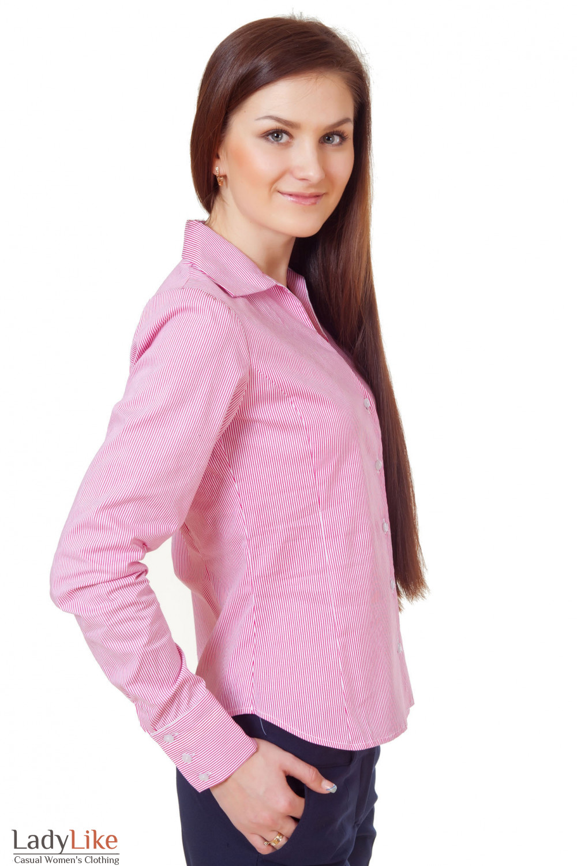 Купить блузку в красную полоску Деловая женская одежда