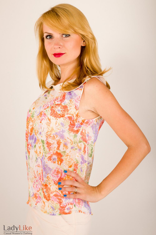 Фото Топ с воротничком Деловая женская одежда