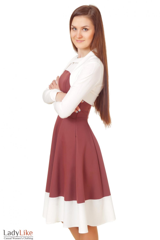 Купить молочное болеро к платью Деловая женская одежда