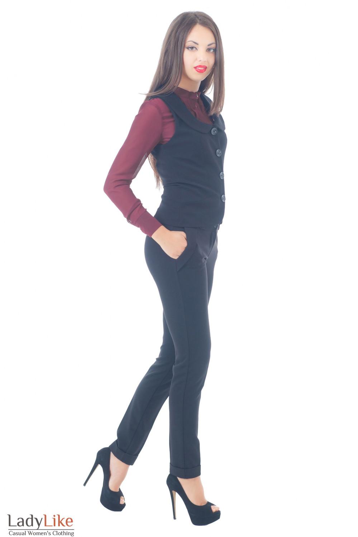 Купить брюки с теплой жилеткой Деловая женская одежда