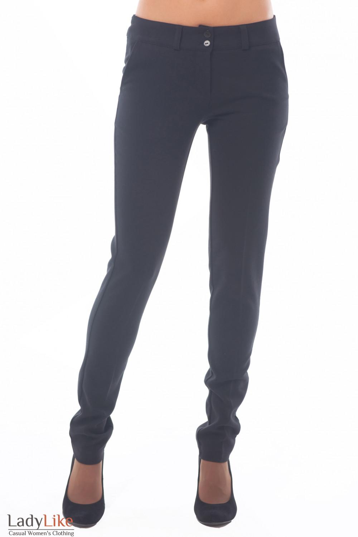 Брюки черные узкие классические Деловая женская одежда