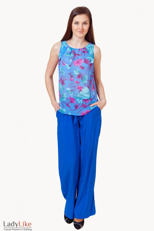 Купить летние штаны с майкой Деловая женская одежда