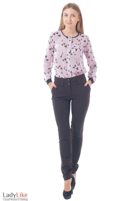 Купить женские коричневые брюки Деловая женская одежда